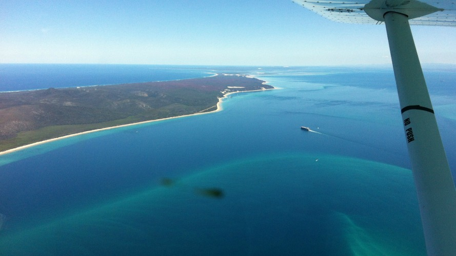 Moreton Bay from 3500 Feet - Fly Now Redcliffe
